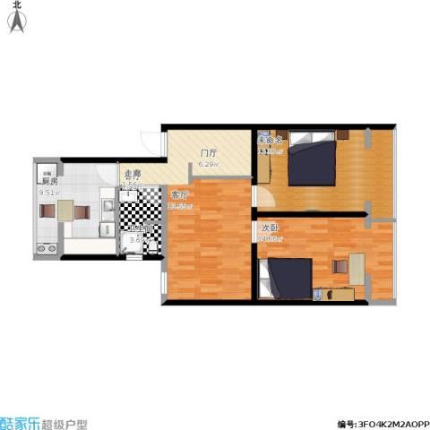 广安门车站西街17号院1室1厅1卫1厨89.00㎡户型图