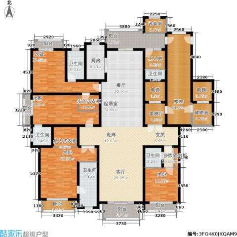 上海星河湾4室0厅5卫1厨285.00㎡户型图