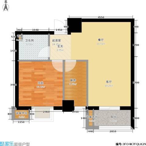 金竹首府1室0厅1卫1厨74.00㎡户型图