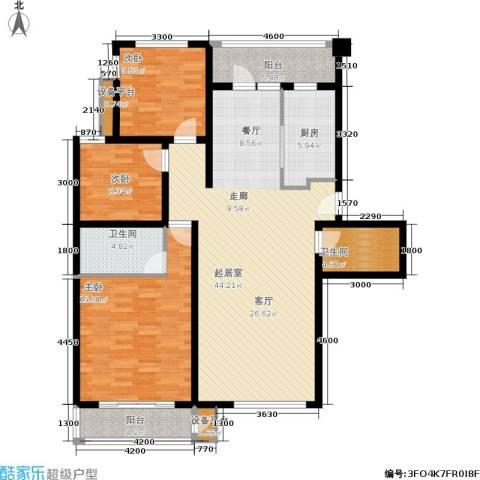 金竹首府3室0厅2卫1厨154.00㎡户型图