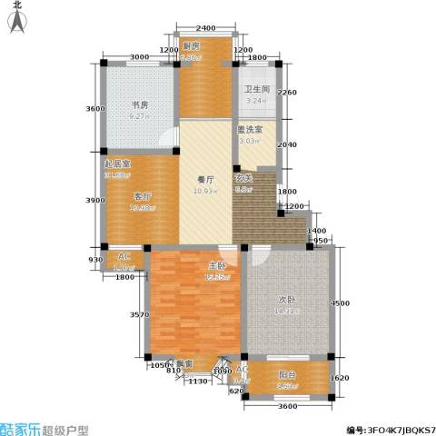 东方家园3室0厅1卫1厨127.00㎡户型图
