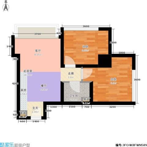 荣京丽都2室0厅1卫0厨57.00㎡户型图
