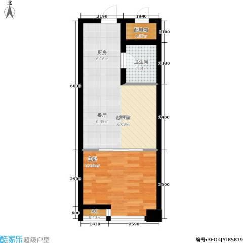 公馆星期81室0厅1卫0厨59.00㎡户型图
