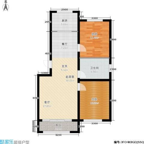 金地卡诗维亚2室0厅1卫1厨93.00㎡户型图