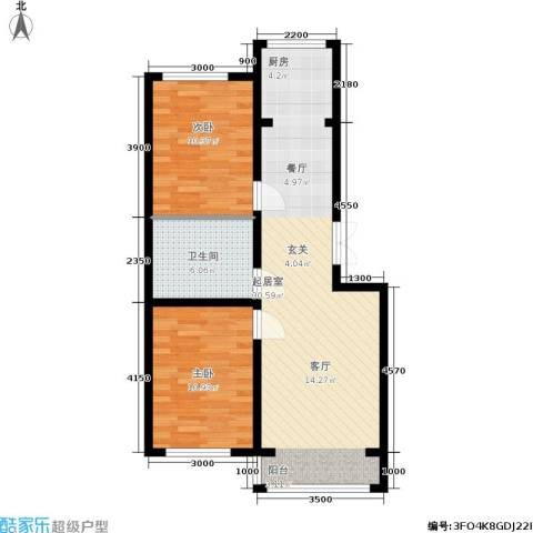 金地卡诗维亚2室0厅1卫0厨80.00㎡户型图