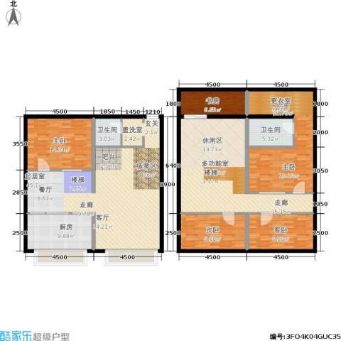 UP生活4室0厅2卫1厨157.90㎡户型图