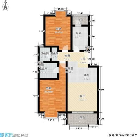 北京青年城2室0厅2卫1厨99.00㎡户型图