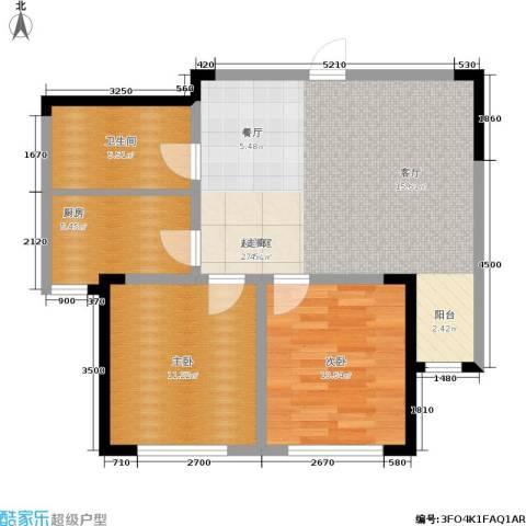 澳海澜郡2室0厅1卫1厨69.00㎡户型图