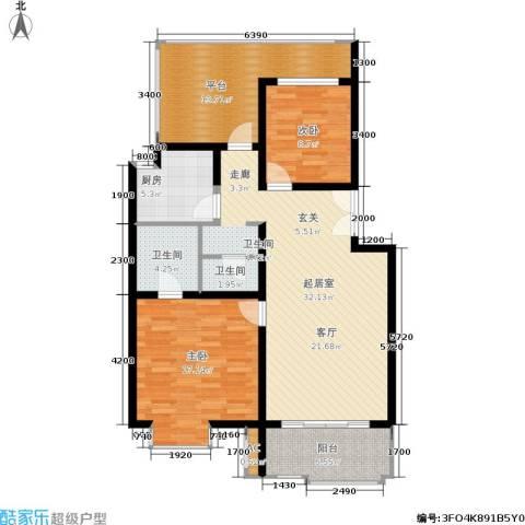 北京青年城2室0厅2卫1厨91.00㎡户型图