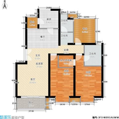 北京青年城2室0厅2卫1厨111.00㎡户型图
