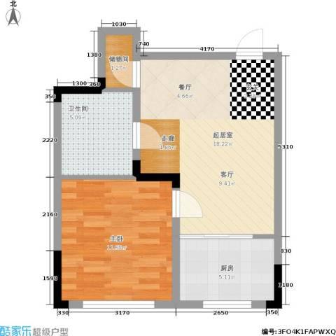 澳海澜郡1室0厅1卫1厨48.00㎡户型图