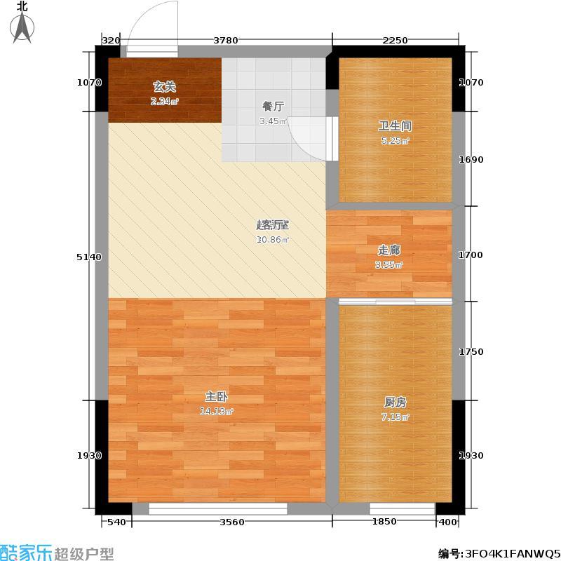 澳海澜郡52.00㎡二期小高层4#/6#楼A5户型