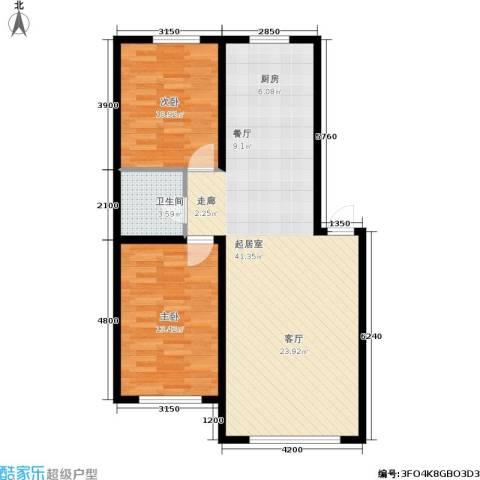 博达英郡2室0厅1卫0厨96.00㎡户型图
