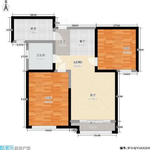 雅仕兰庭2室0厅1卫1厨89.00㎡户型图