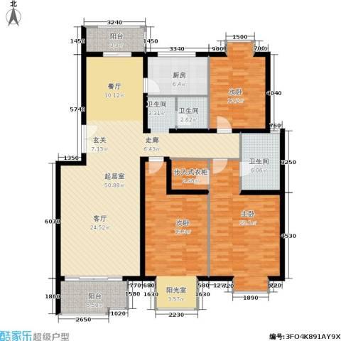北京青年城3室0厅2卫1厨147.00㎡户型图