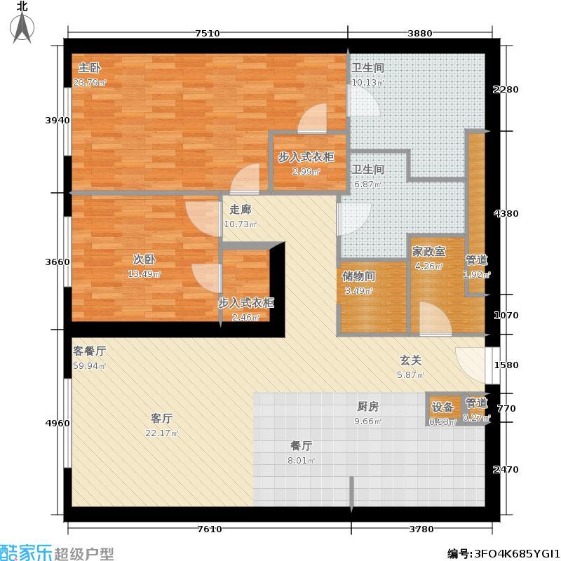 新地国际公寓134.00㎡新地国际公寓134.00㎡2室2厅2卫户型2室2厅2卫