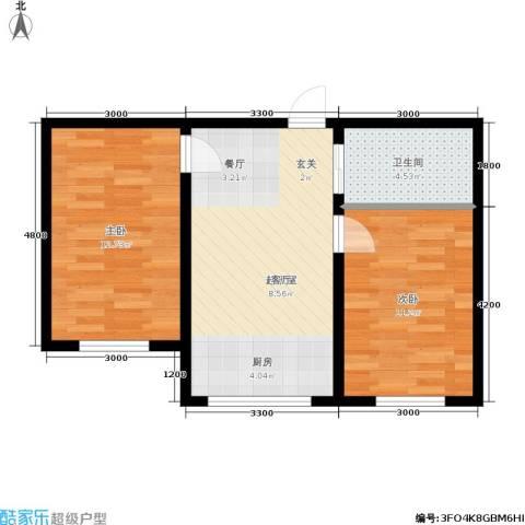 博达英郡2室0厅1卫0厨65.00㎡户型图