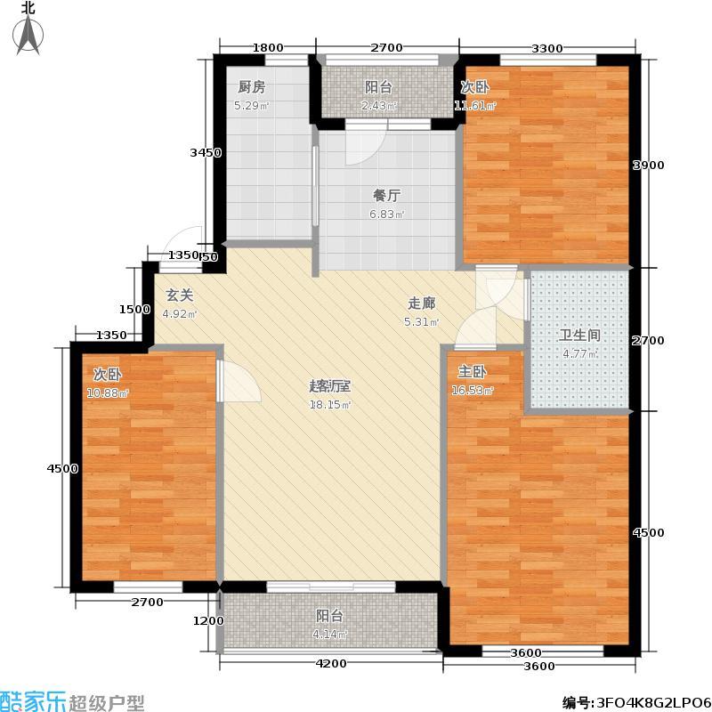朝阳新苑朝阳新苑B1三室两厅一卫112.51户型图户型2室2厅1卫