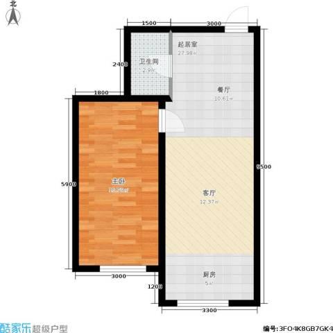 宁泰景园1室0厅1卫0厨65.00㎡户型图