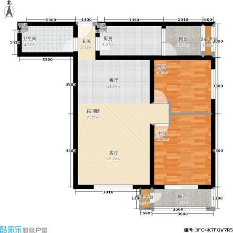 金竹首府2室0厅1卫1厨112.00㎡户型图
