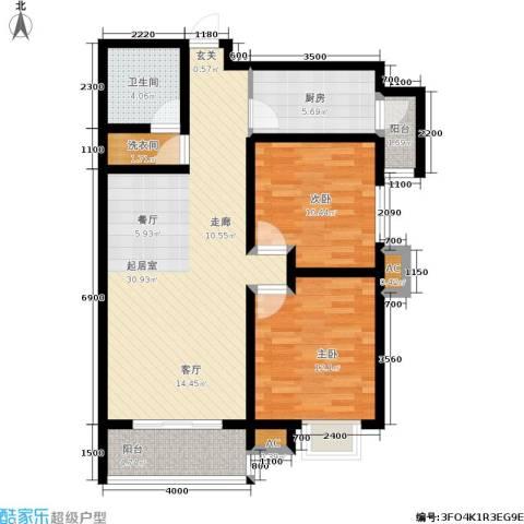 星湖国际花园2室0厅1卫1厨106.00㎡户型图