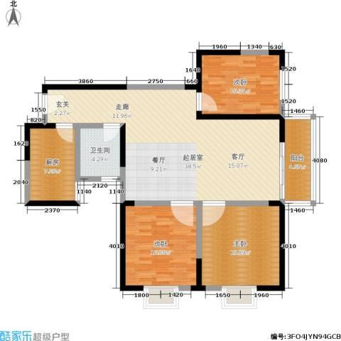 圣地亚哥3室0厅1卫1厨104.00㎡户型图