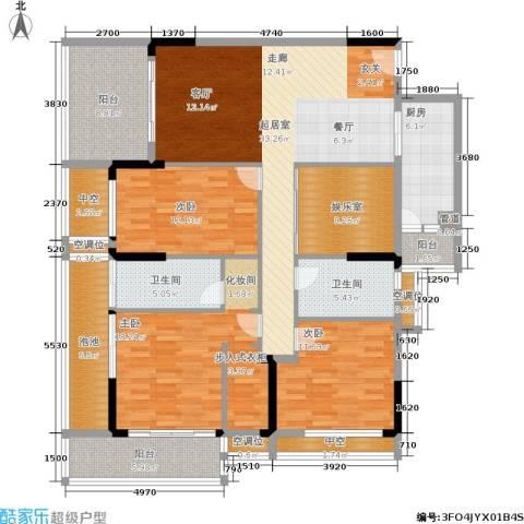 万科兰乔圣菲3室0厅2卫1厨150.00㎡户型图