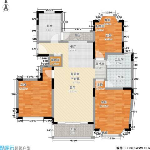 郁庭峰南园2室0厅2卫1厨123.00㎡户型图