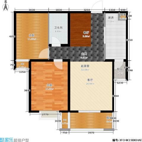 悦正碧林湾2室0厅1卫1厨111.00㎡户型图