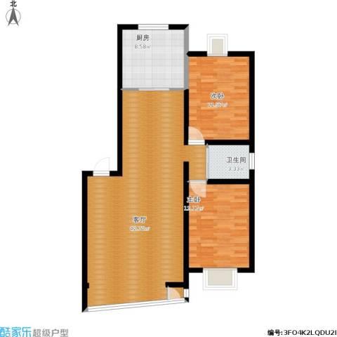 高新花园2室1厅1卫1厨110.00㎡户型图