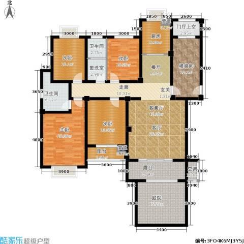 中建绿洲国际花园4室1厅2卫1厨155.54㎡户型图