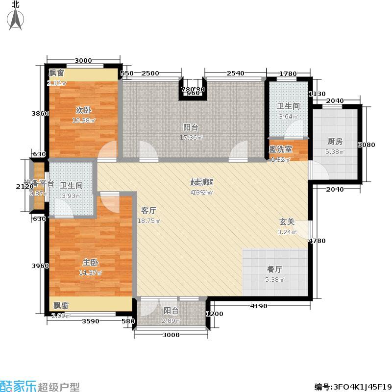 津沽首府118.00㎡三期6、8号楼1-26层1、户型4室2厅
