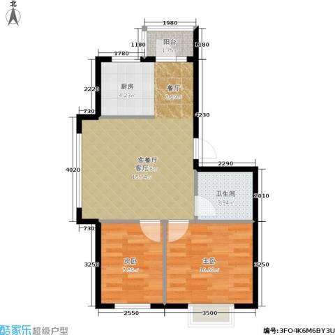 格兰云天2室1厅1卫0厨66.00㎡户型图