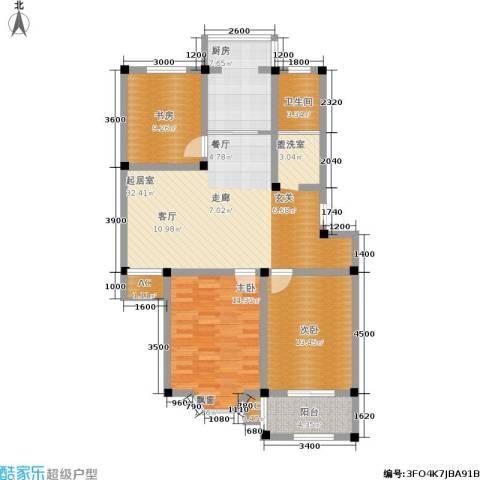 东方家园3室0厅1卫1厨126.00㎡户型图