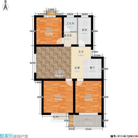 东方家园3室0厅1卫1厨121.00㎡户型图