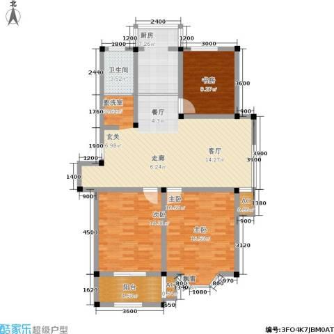 东方家园3室0厅1卫1厨131.00㎡户型图