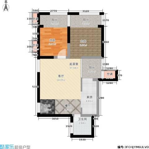 九形道1室0厅1卫0厨61.00㎡户型图
