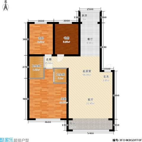 锦绣江南3室0厅2卫0厨144.00㎡户型图