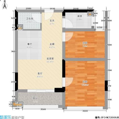 一品国际2室0厅1卫1厨75.00㎡户型图