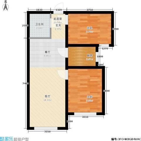 宁泰景园2室0厅1卫1厨70.00㎡户型图