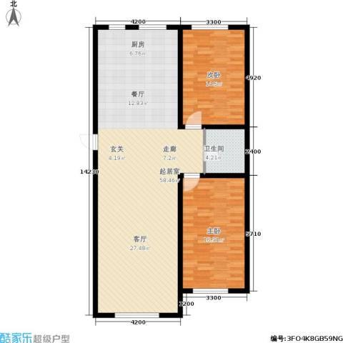宁泰景园2室0厅1卫0厨128.00㎡户型图
