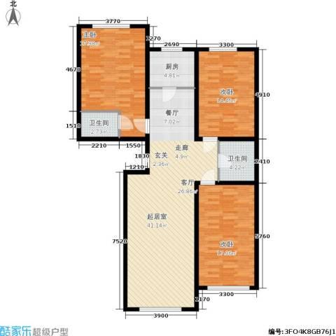宁泰景园3室0厅2卫1厨142.00㎡户型图