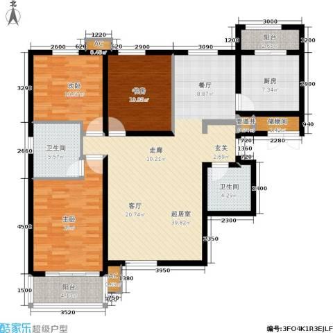 星湖国际花园3室0厅2卫1厨149.00㎡户型图