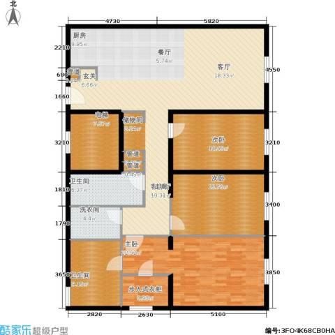 新地国际公寓3室1厅2卫0厨183.00㎡户型图