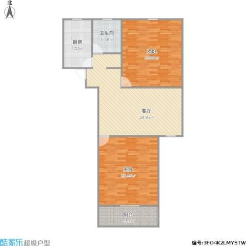 共康六村2室1厅1卫1厨127.00㎡户型图