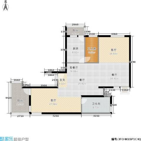静安同乐1厅1卫1厨155.00㎡户型图