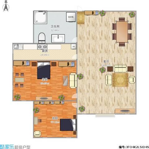 金屋秦皇半岛2室1厅1卫1厨385.00㎡户型图