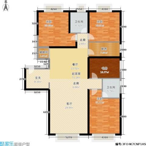 东方国际中心4室0厅2卫1厨177.13㎡户型图