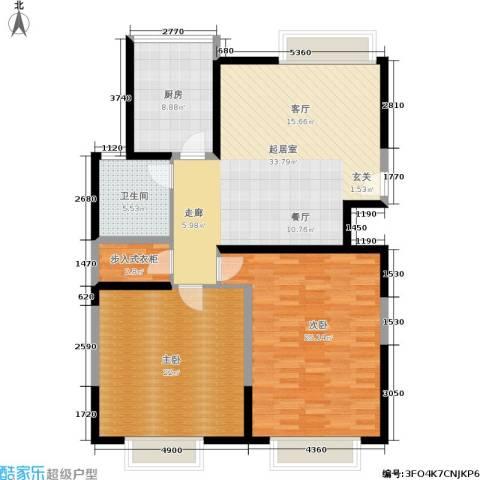 东方国际中心2室0厅1卫1厨109.12㎡户型图