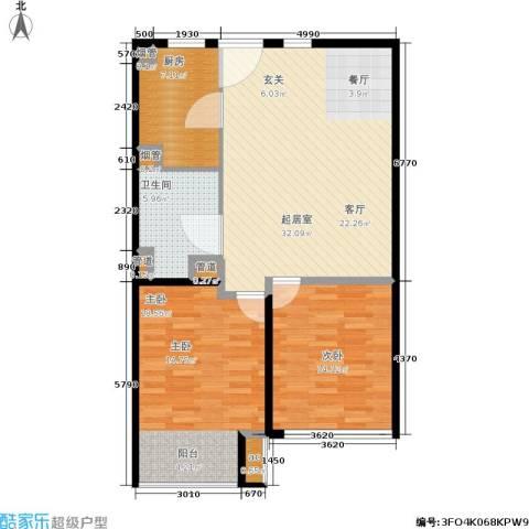 K2清水湾2室0厅1卫1厨88.00㎡户型图